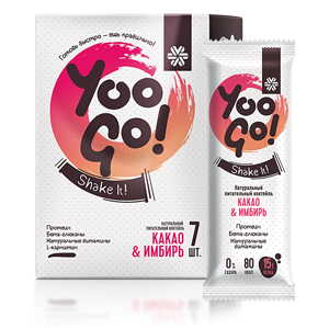 Питательный коктейль Какао-имбирь - Yoo Gо