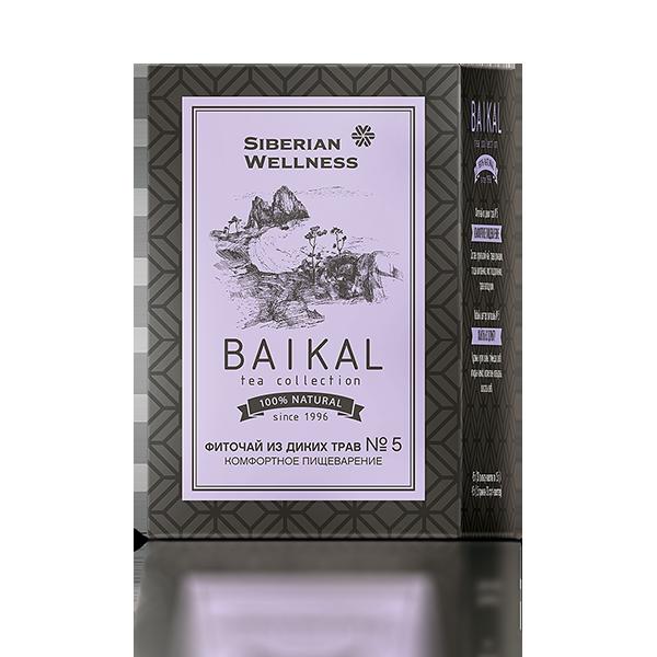 Фиточай из диких трав № 5 (Комфортное пищеварение) Baikal Tea Collection