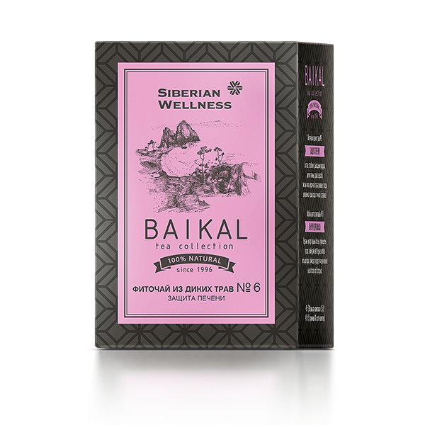 Фиточай из диких трав № 6 (Защита печени) Baikal Tea Collection