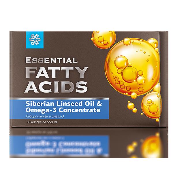 Сибирский лен и омега-3 Essential Fatty Acids