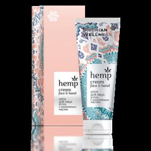 Крем для лица и рук с конопляным маслом косметика с комплексом ENDEMIX™