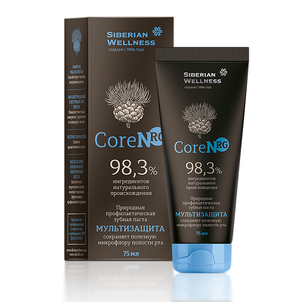 CoreNRG, природная профилактическая зубная паста